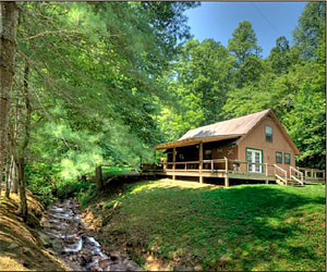 Hidden Creek Cabins Bryson City NC Log Cabin Rentals